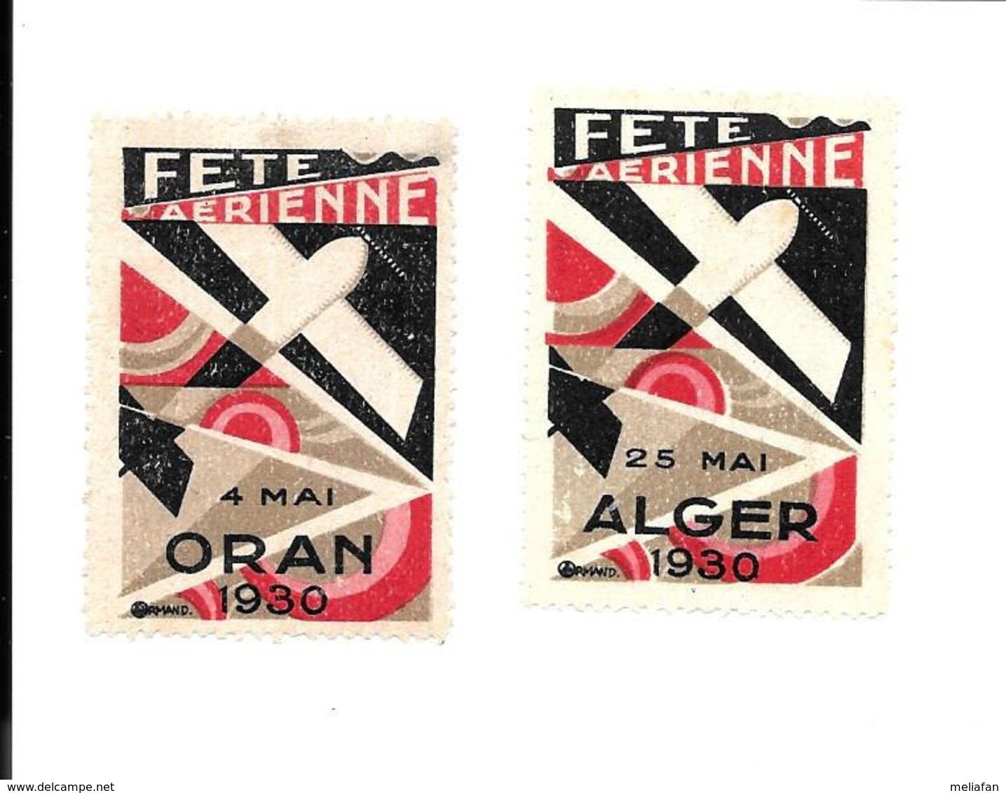 KB614 - FETE AERIENNE ALGER 1930 - Erinnophilie