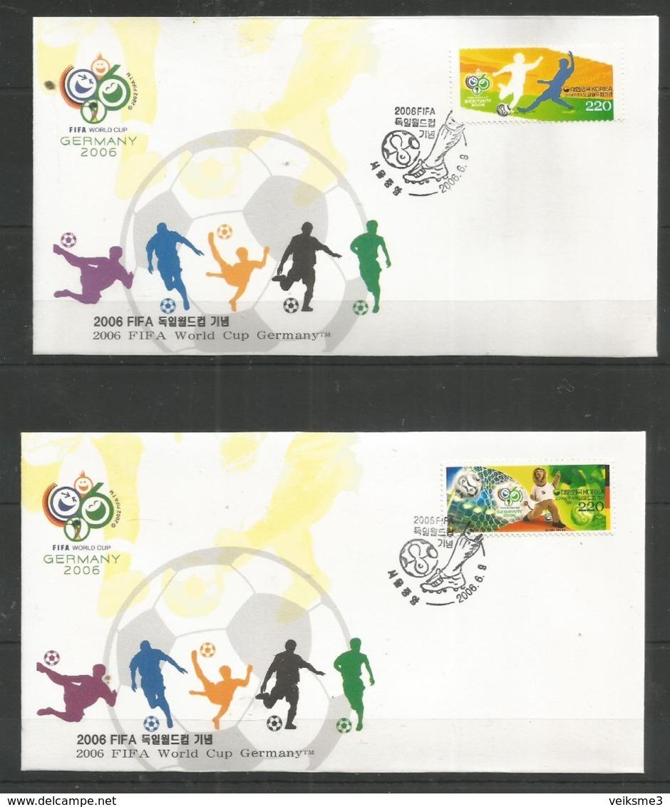 2 Pcs DPR KOREA - 2006 - Sport - Soccer - World Cup - FIFA - Korea, South
