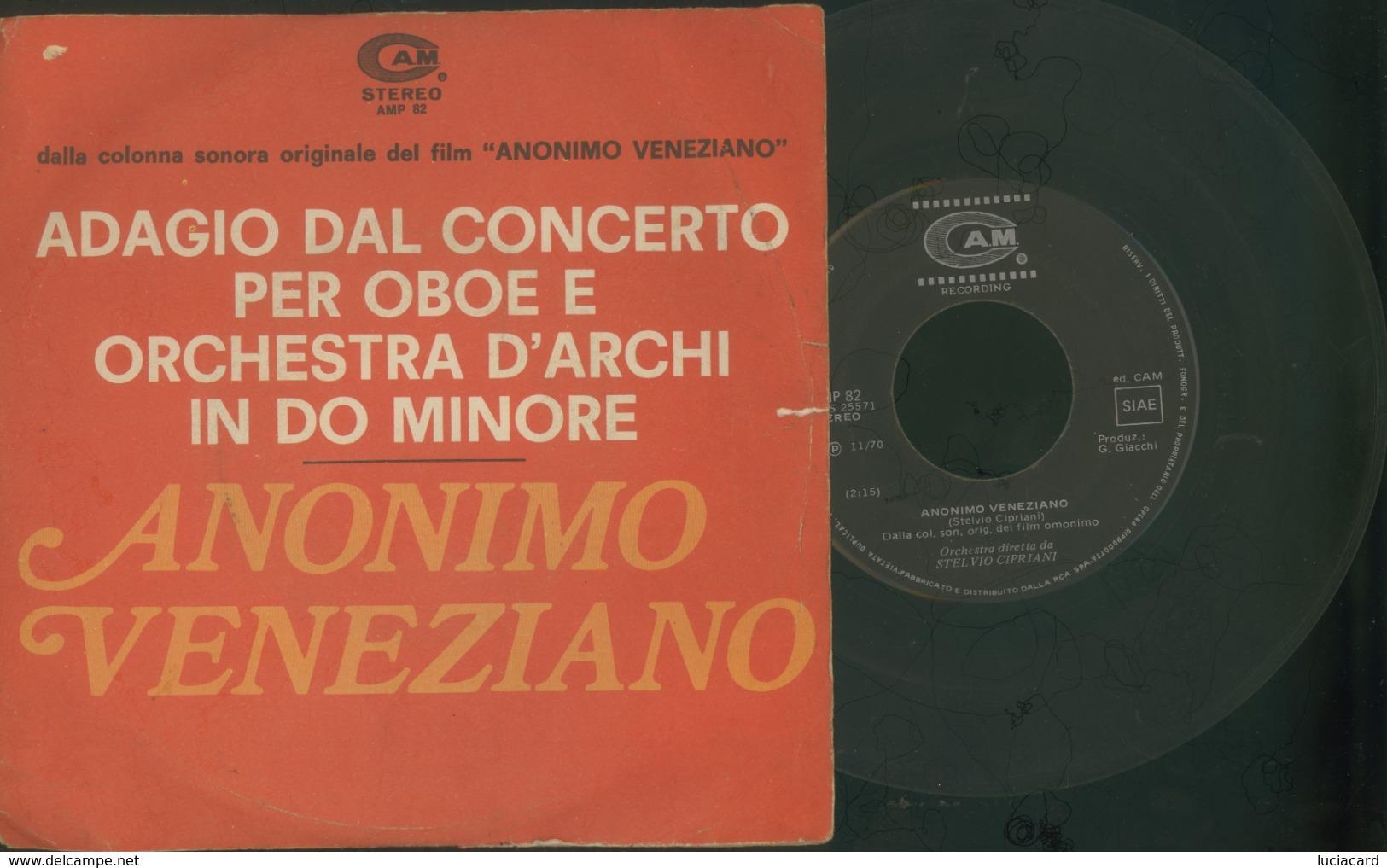COLONNA SONORA DAL FILM ANONIMO VENEZIANO - DISCO VINILE 45 GIRI - Filmmusik