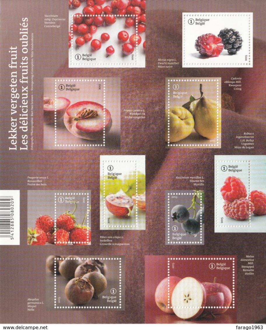 2015 Belgium Fruits  Miniature Sheet Of 10 MNH @ 80% Face Value - Obst & Früchte