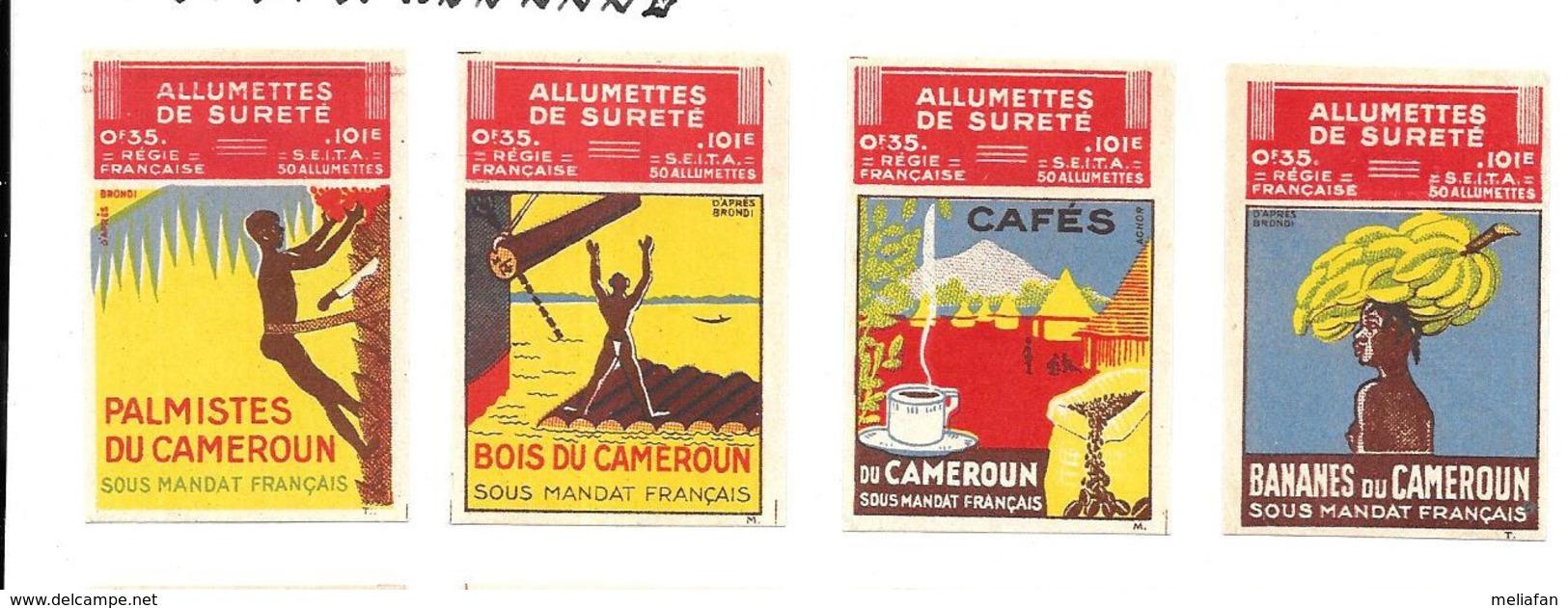 KB629 - ETIQUETTES BOITES D'ALLUMETTES DU CAMEROUN - Boites D'allumettes - Etiquettes