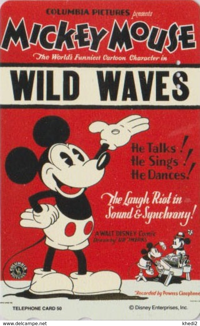 Télécarte Japon  / 110-189168 - DISNEY - Série MOVIE POSTER COLLECTION A2 - MICKEY  * WILD WAVES * Japan Phonecard - Disney