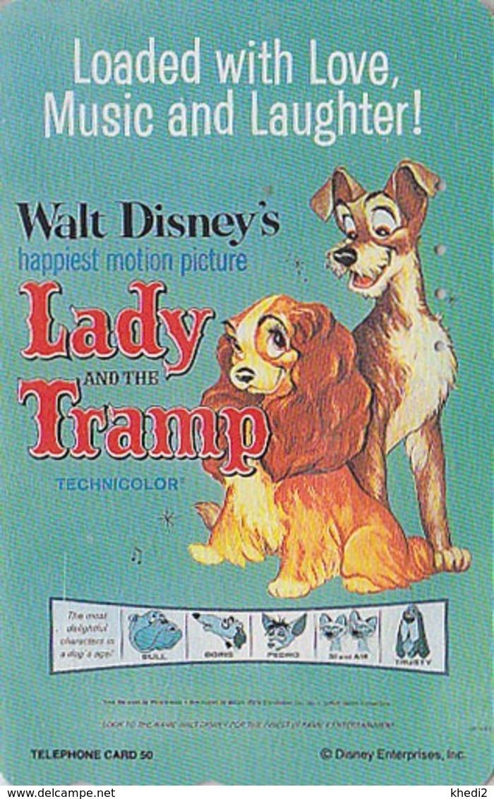 TC Japon  / 110-190469 - DISNEY - Série MOVIE POSTER COLLECTION F3 - * LADY & TRAMP * Chien Dog - Japan Phonecard - Disney