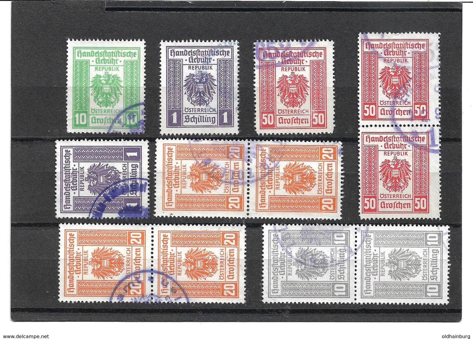 1617z1: Handelsstatistische Gebühr Div. Ausgaben, Mir Unbekannt (Stempelmarken) - Abarten & Kuriositäten