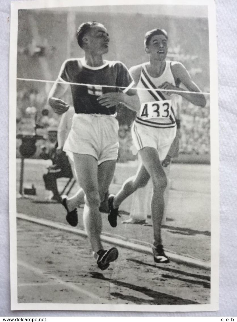 Foto Cromo Olimpiada De Los Ángeles. 1932. Nº 28. Atletismo 5000 Metros, Ralph Hill, USA, Lehtinen, Finlandia - Tarjetas