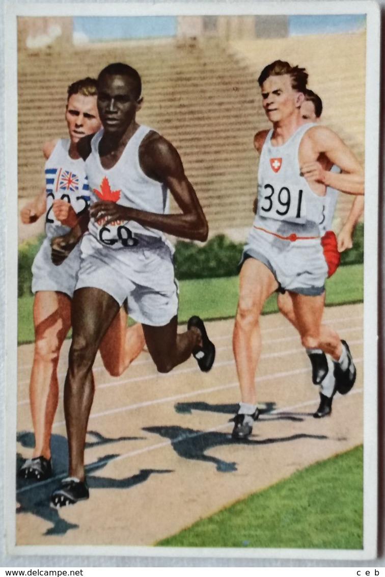 Foto Cromo Olimpiada De Los Ángeles. 1932. Nº 22. Atletismo 800 Metros. Phil Edwards, Canadá. Hecho En 1936 Para Berlín - Tarjetas