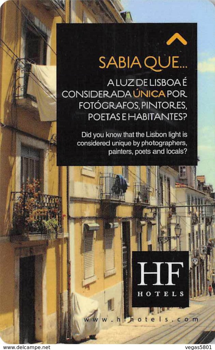 HF Hotels FÉNIX - Portugal - Hotel Room Key Card, Hotelkarte, Schlüsselkarte, Clé De L'Hôtel - Hotelkarten