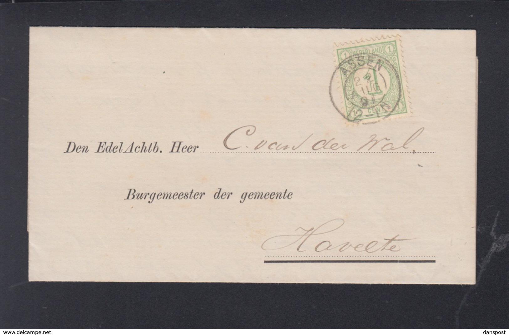 Brief Assen 1891 - Briefe U. Dokumente
