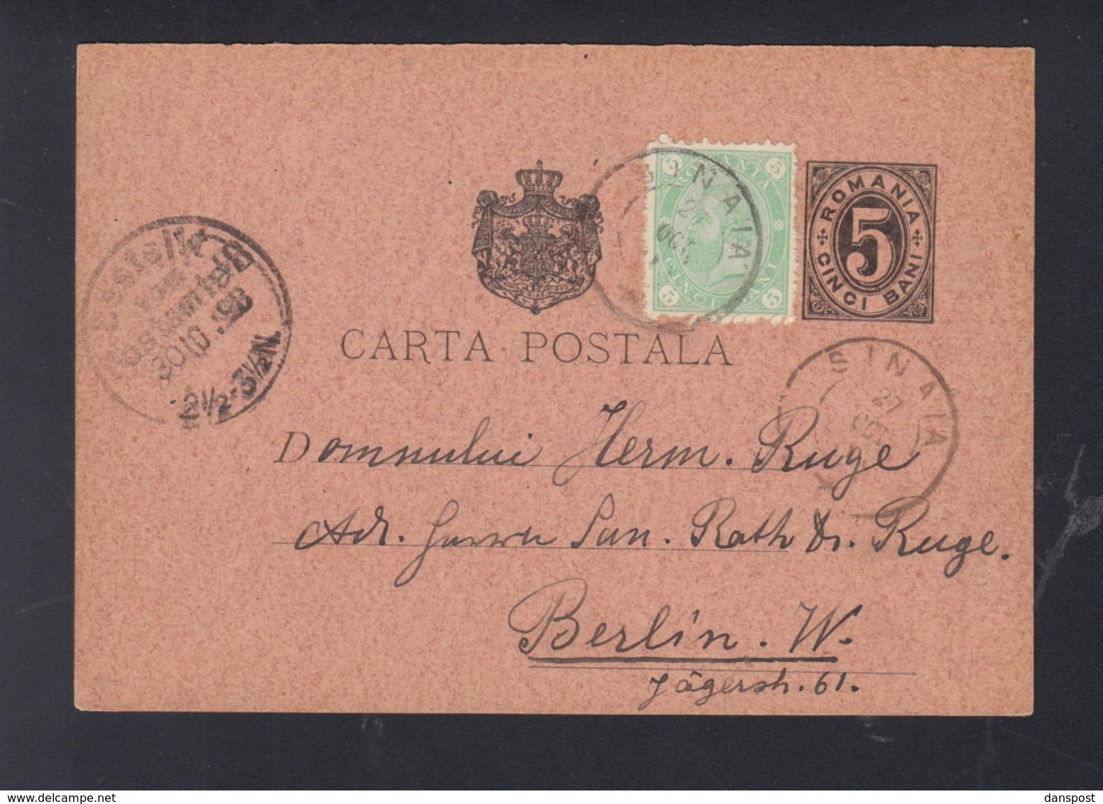 Romania PC Uprated Sinaia To Berlin - 1881-1918: Carol I.