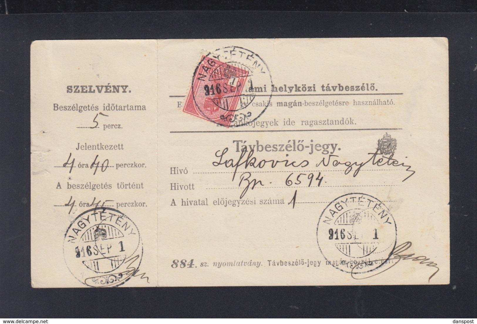 Hungary Nagyteteny 1816 - Ungarn