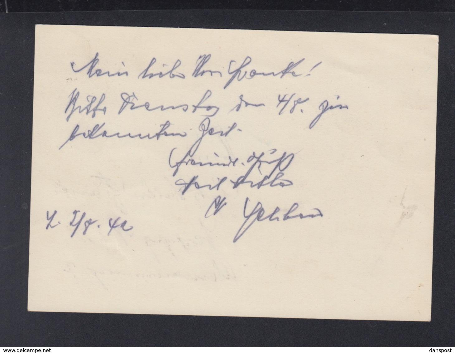 Dt. Reich GSK 1942 Leipzig Nachporto - Briefe U. Dokumente