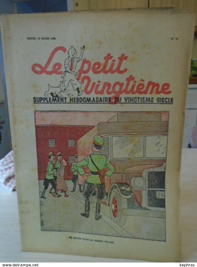 -HERGE - TINTIN - Le Petit Vingtième - N° 11 - 16 Mars 1938 - Bon Etat - QQ Petits Défauts - Hergé