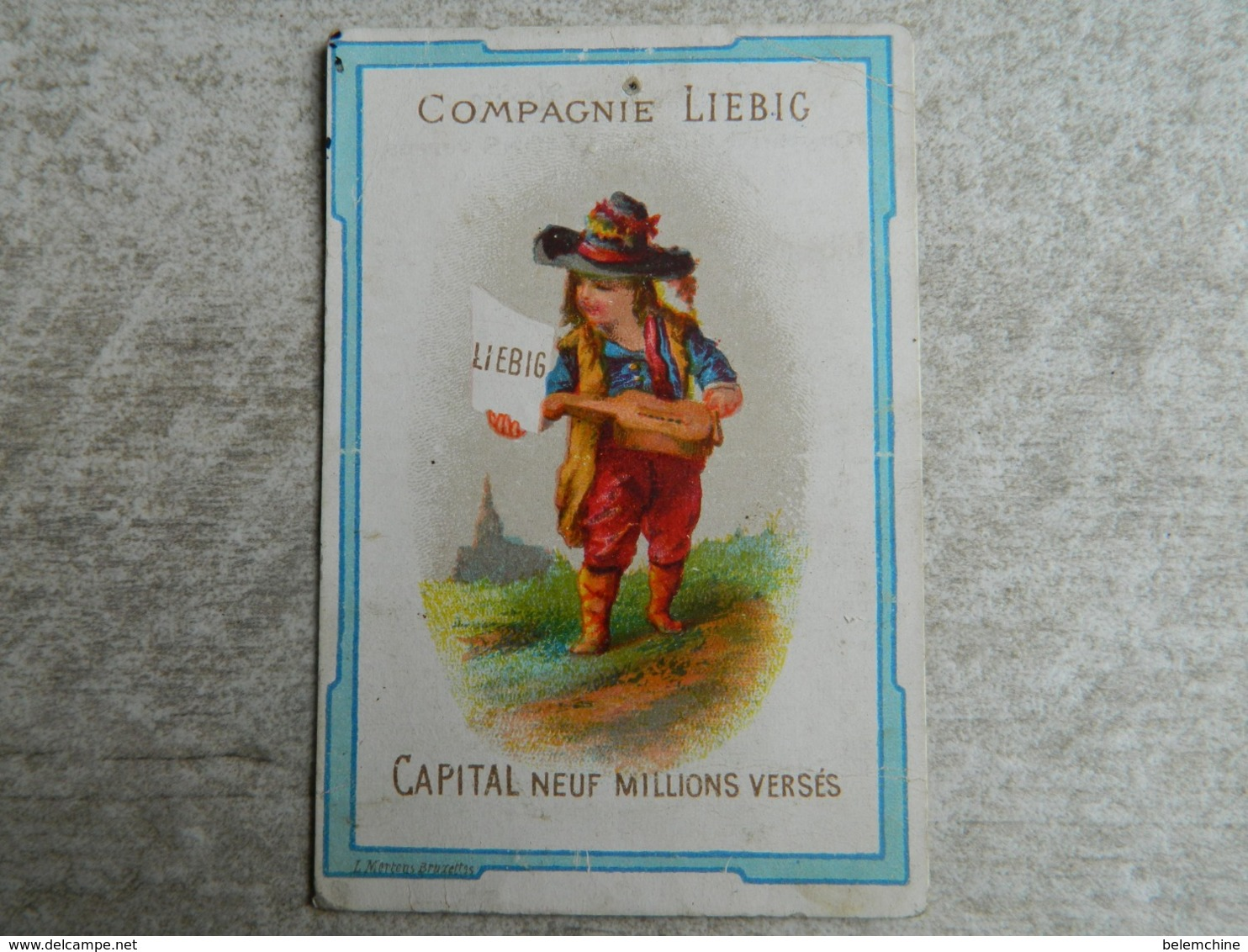 COMPAGNIE LIEBIG      CAPITAL NEUF MILLIONS VERSES - Liebig