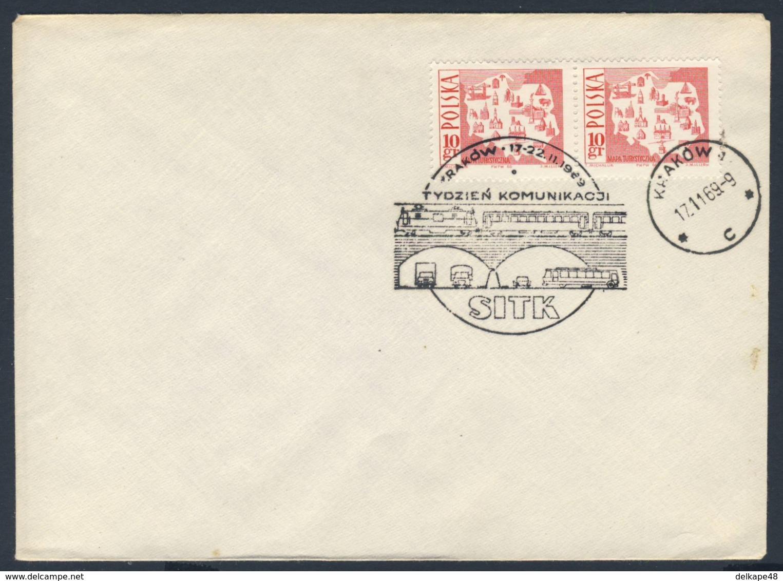 Poland Polska Polen 1969 Brief Cover – Kommunikationswoche SITK, Krakow / Communication Week : 17-22.11.1969 - Treinen