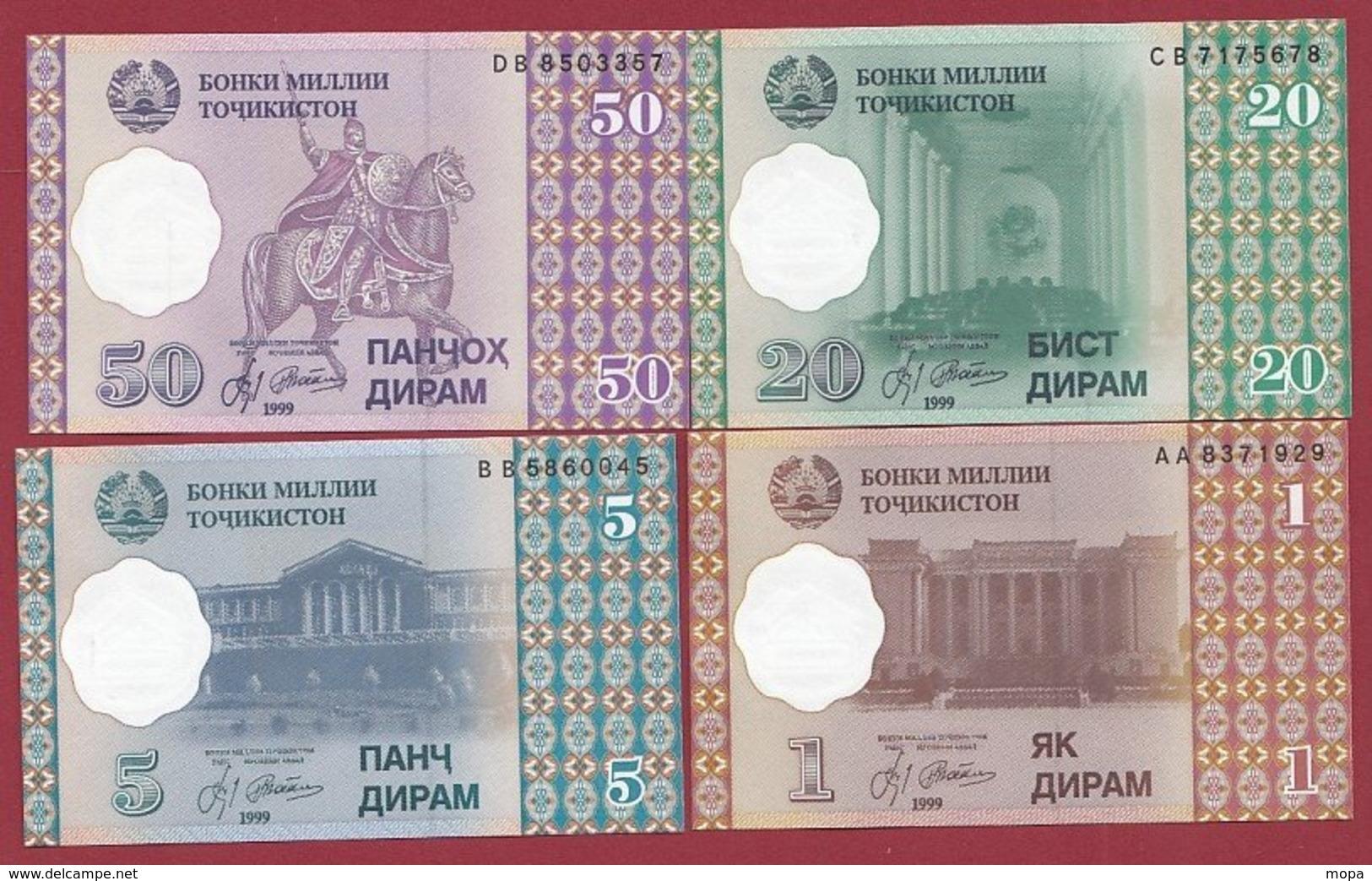 Tadjikistan  4 Billets ---UNC--NEUF Lot N °2 - Tadzjikistan