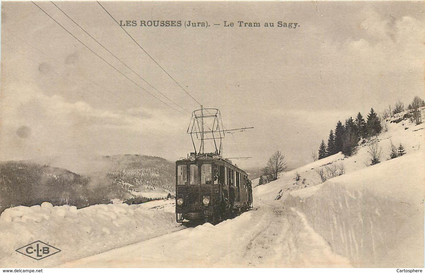 CPA 39 Jura Les Rousses Le Tram électrique Au Sagy Non Circulée Tramway - Francia