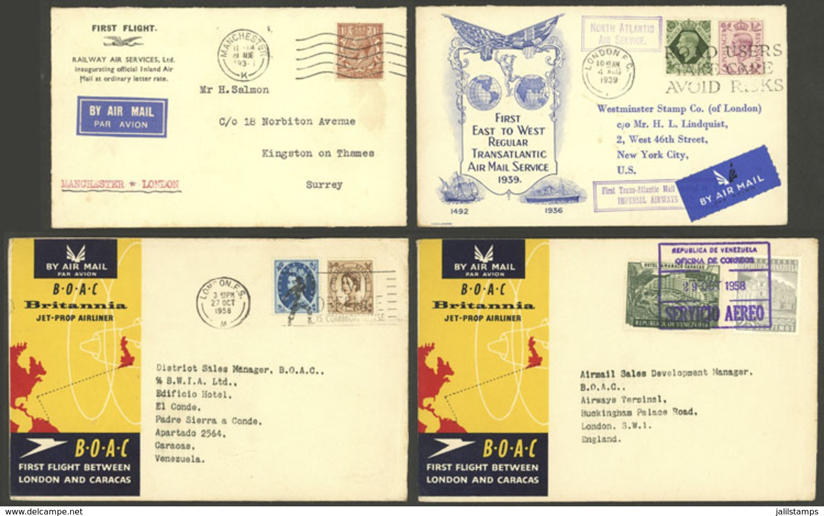 GREAT BRITAIN: FIRST FLIGHTS: 12 Covers Used Between 1930s And 1960s, Very Fine Quality! IMPORTANT: Please View ALL The  - Gran Bretagna