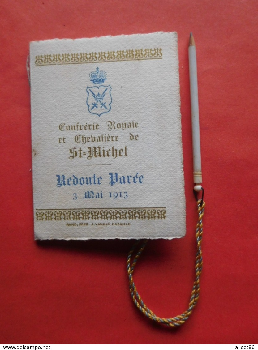 Carnet De Bal Gand 3 Mai 1913 Confrérie Royale Et Chevalière De St Michel / Escrime / Avec Crayon - Vieux Papiers