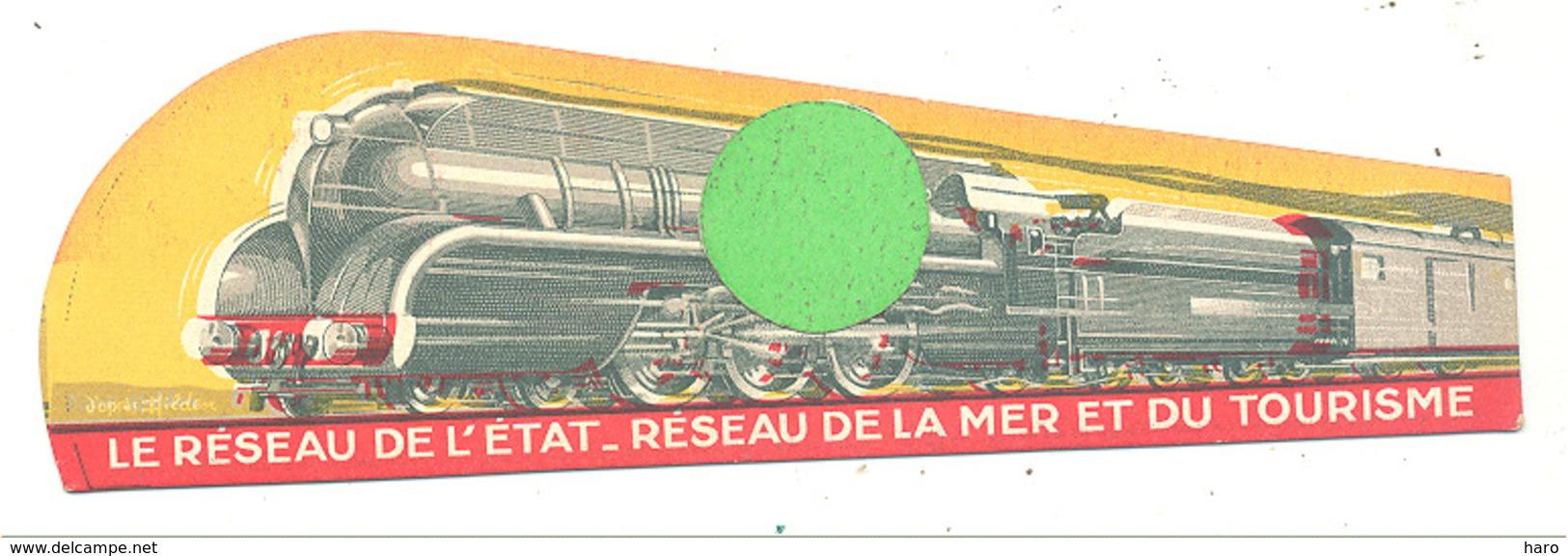 """Marque-pages Publicitaire  -  """" Réseau De L'Etat """"   Train, Tourisme, Normandie, Bretagne, Sud-Ouest   (b260/4) - Bookmarks"""