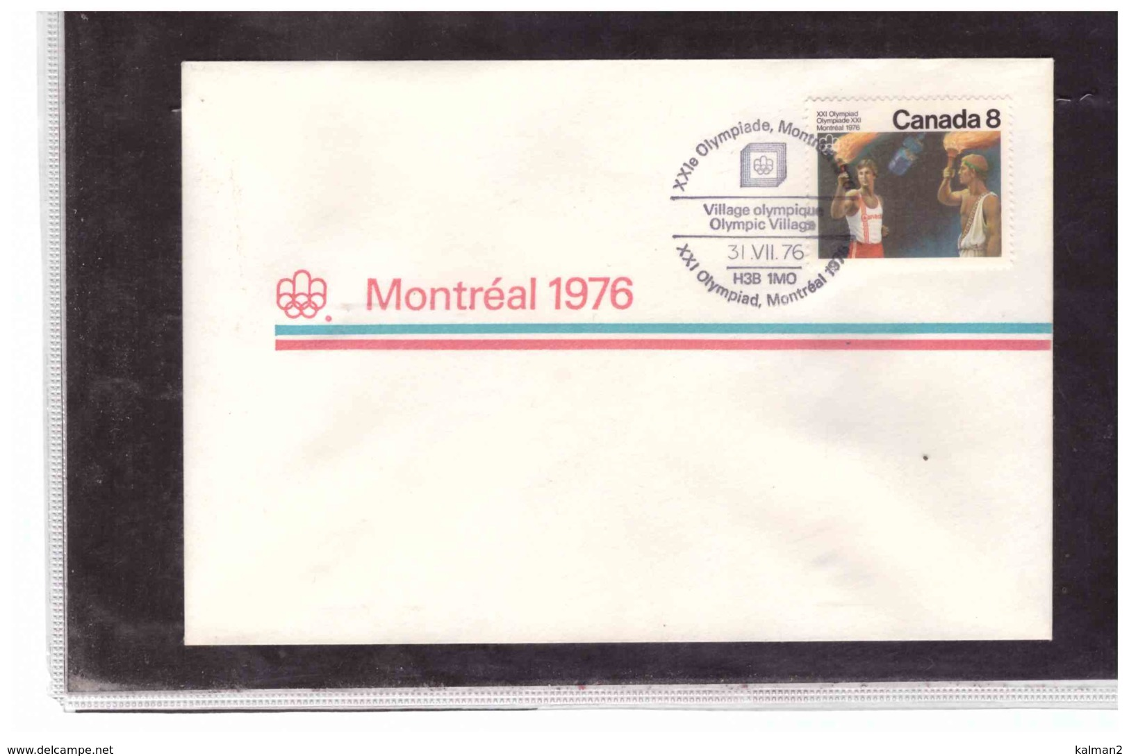 """TEM4503  -  MONTREAL  31.7.1976   /   XXI OLYMPIAD. MONTREAL 1976 - """" VILLAGE OLYMPIQUE """" - Estate 1976: Montreal"""