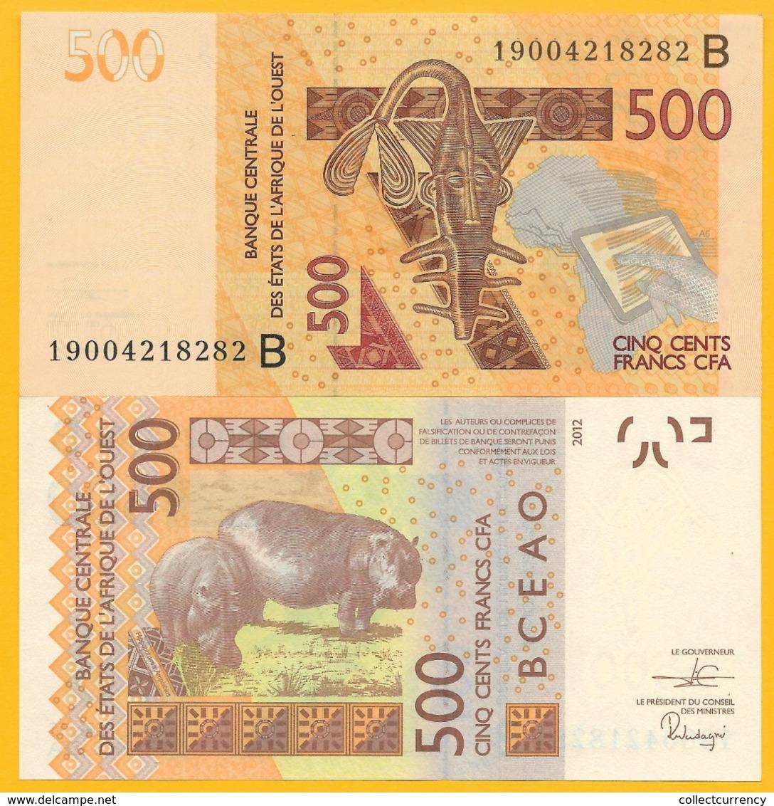 West African States 500 Francs Benin (B) P-219B 2019 UNC Banknote - West-Afrikaanse Staten