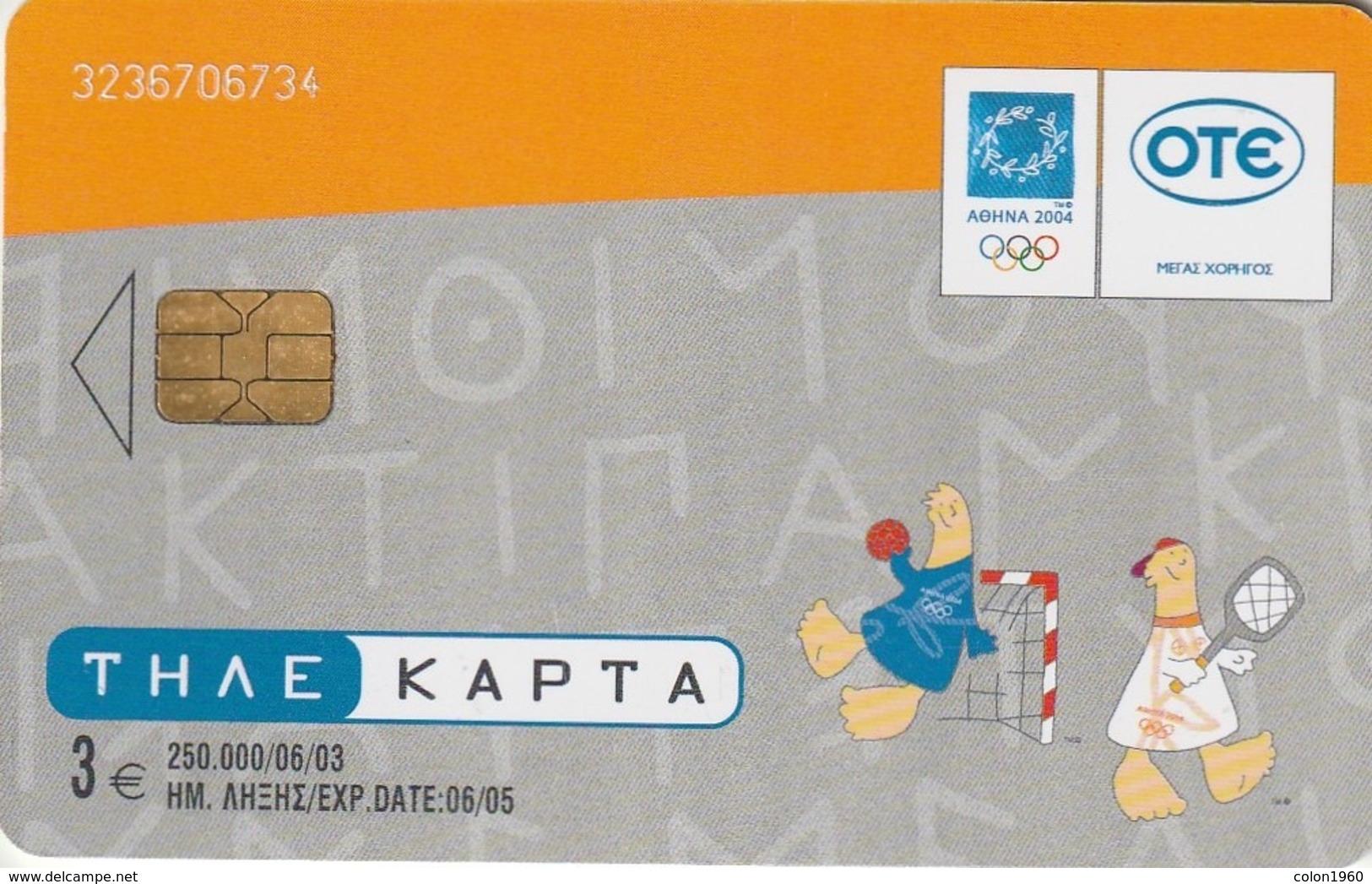 GRECIA. JUEGOS OLIMPICOS. J.J.O.O. Fhevos & Athena 3/17. 06/2003. X1661. (049). - Jeux Olympiques