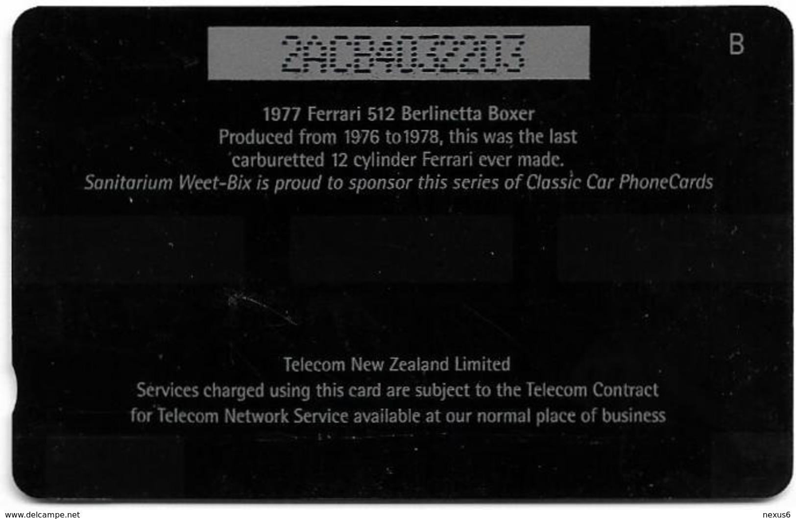 New Zealand - Advertising Cards - Classic Cars '95 - 1977 Ferrari 512, 1995, 5$, 23.000ex, Used - Neuseeland