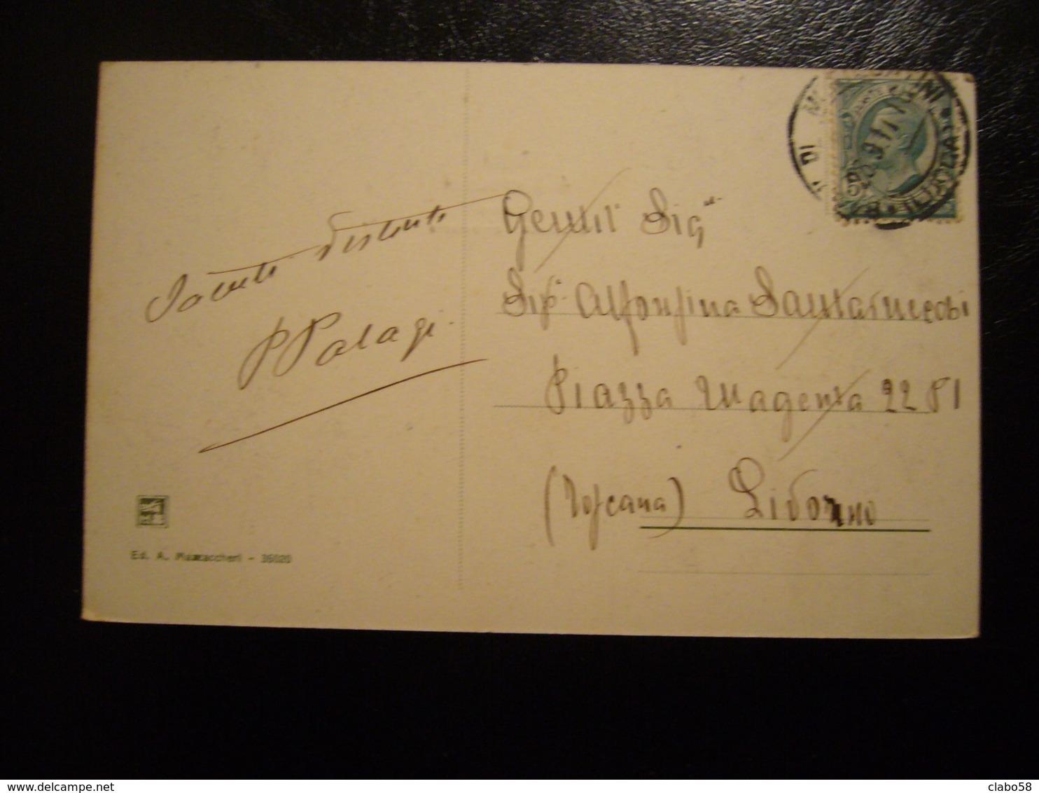 1911  BAGNI DI MONTECATINI  ESTERNO STAZIONE FERROVIARIA  DILIGENZE ANIMATA - Italia