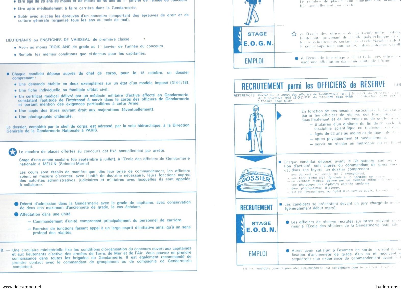 Gendarmerie Nationale Brochure Recrutement - Politie & Rijkswacht