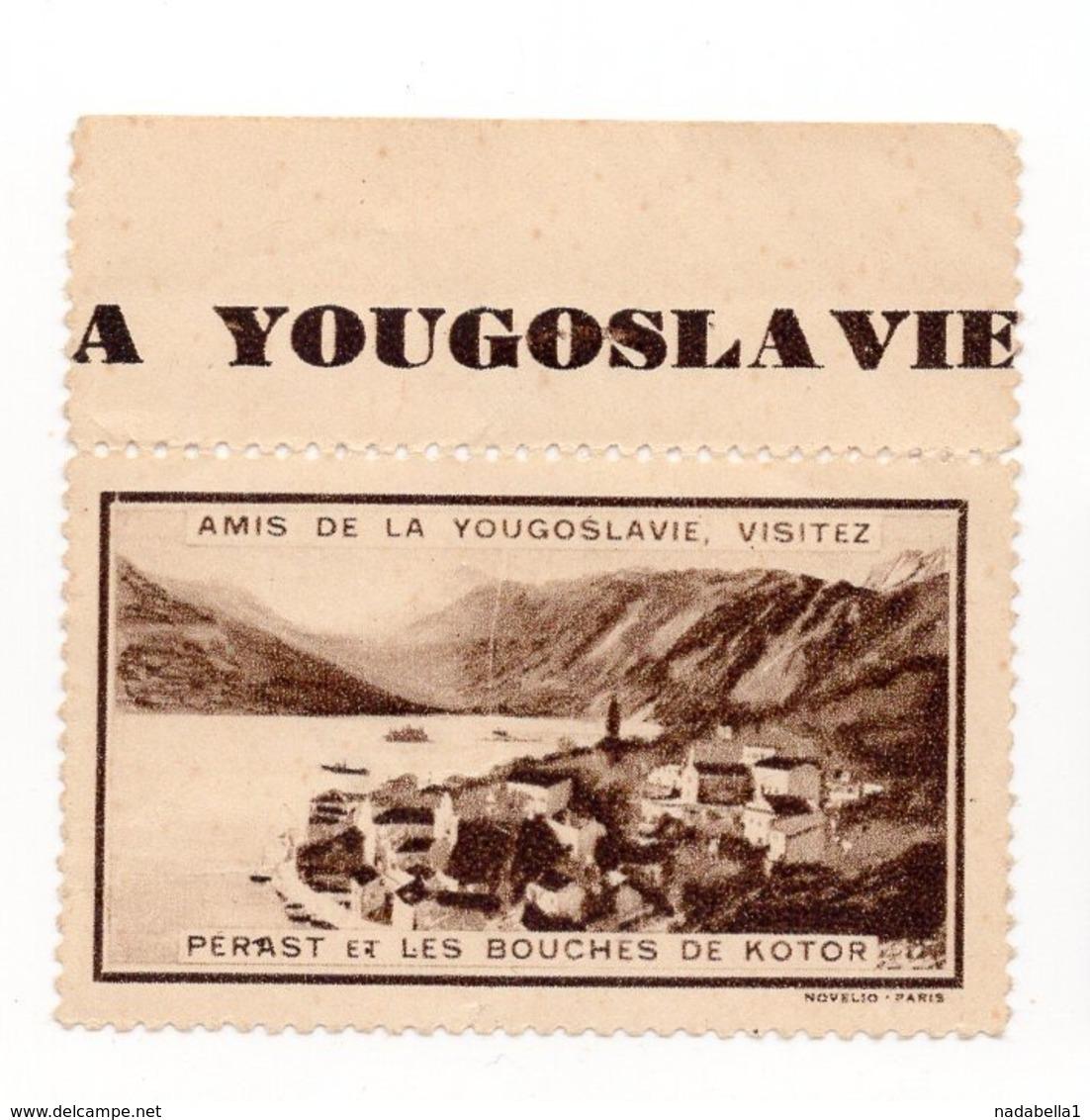 YUGOSLAVIA, MONTENEGRO, KOTOR, 1930? POSTER STAMP,  DIMENSIONS 5.2 X 4 Cm - Montenegro