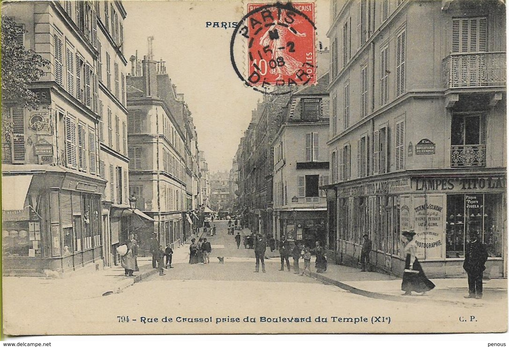 PARIS  Rue De Crussol Prise Du Boulevard Du Temple - District 11