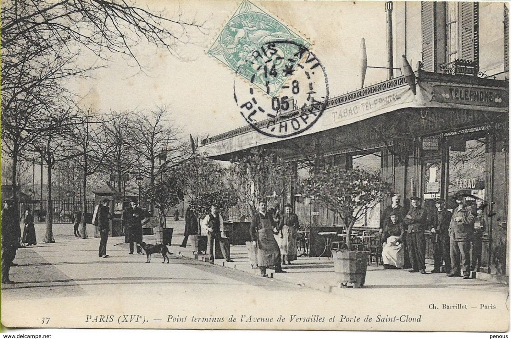 PARIS Point Terminus De L'avenue De Versailles Et Porte De Saint Cloud (terrasse De Café Animée) - District 16