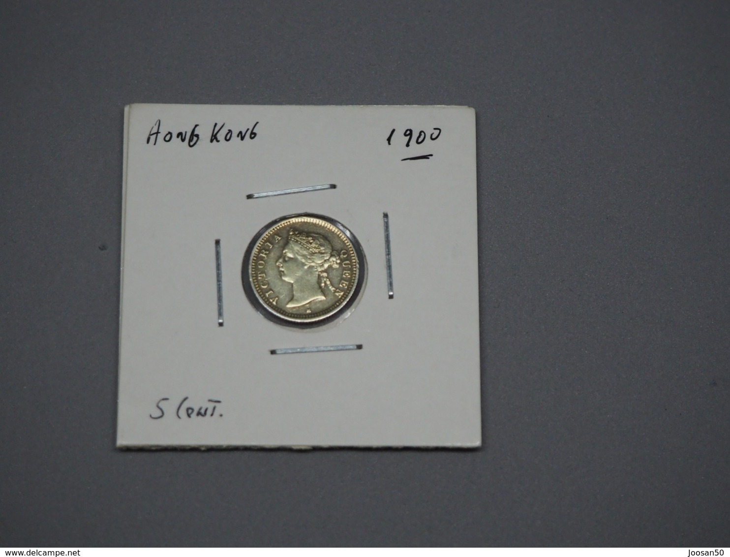 Hong Kong; Prata 5 Centimes 1900 Victoria - Hongkong