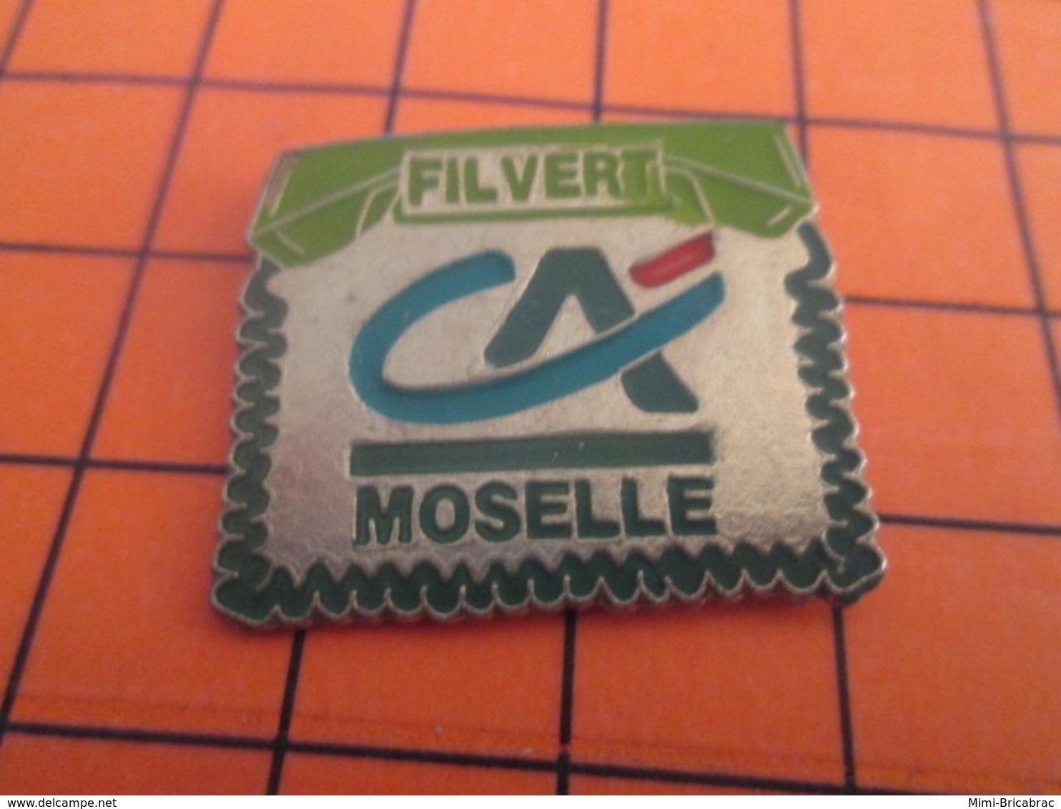 1319 Pin's Pins : BEAU ET RARE : Thème BANQUES / CREDIT AGRICOLE MOSELLE FILVERT - Banken