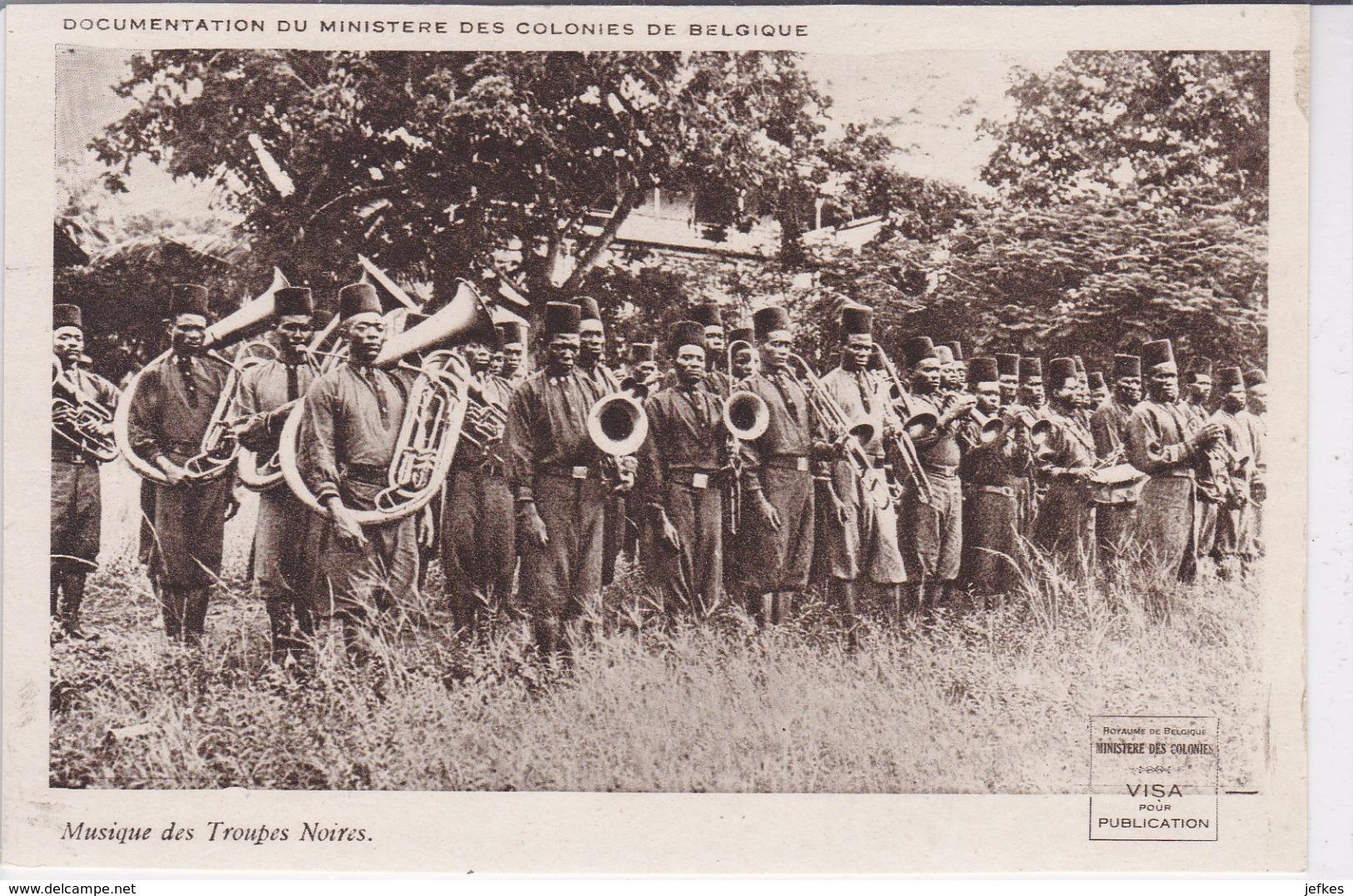 Musique Des Troupes Noires. Documentation Du Ministère Des Colonies De Belgique - Congo Belge - Autres
