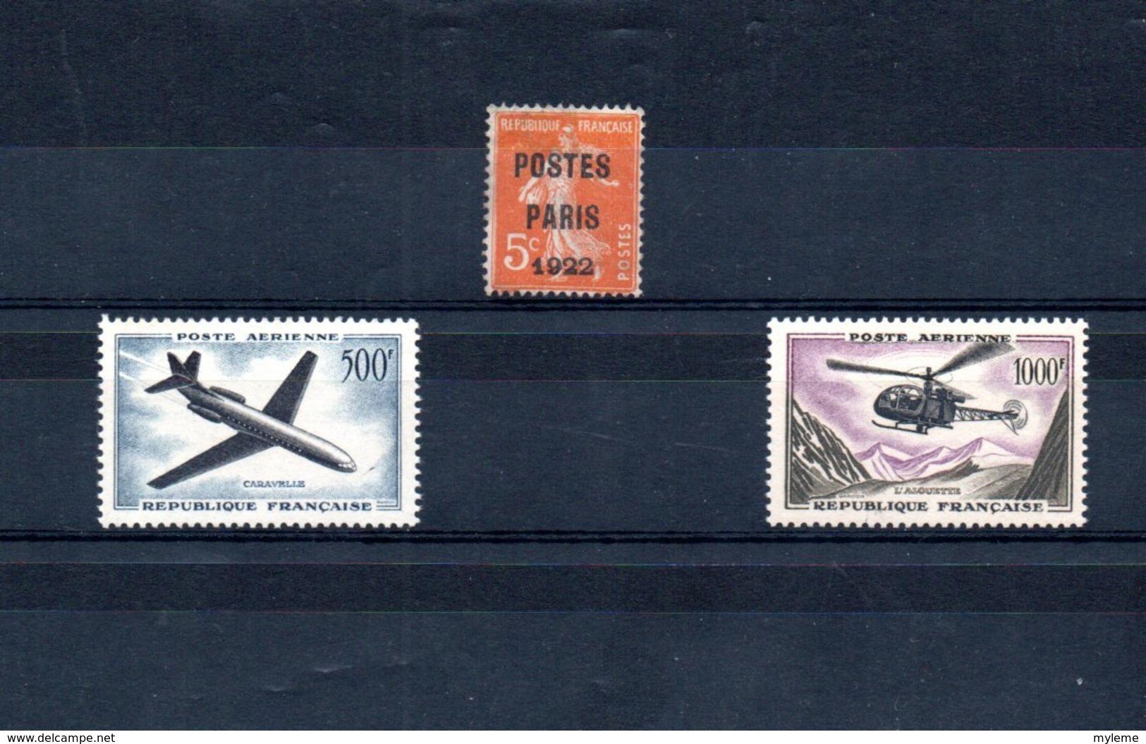 Carton Dont France  PA  15 * + 354 Et 355 + Préoblitérés + PA ** + ...Voir Commentaires !!! - Timbres