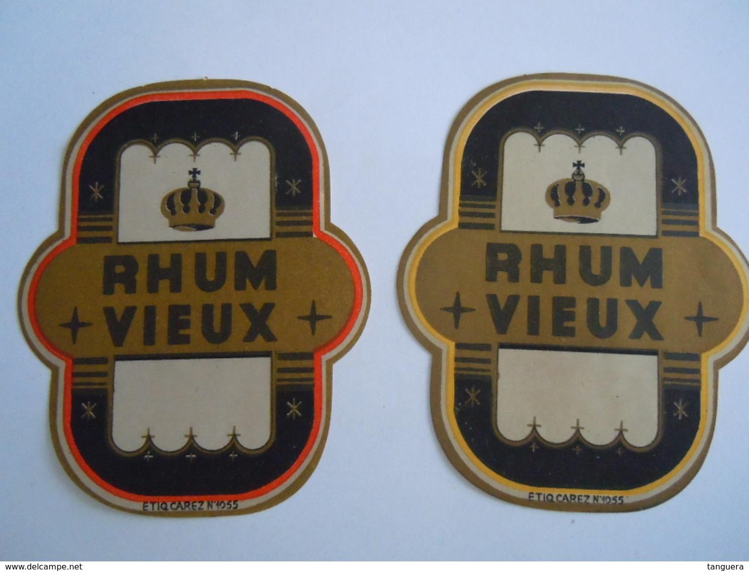 Etiket Etiquette 2 Rhum Vieux Form. 8 X 9,8 Cm - Etiketten