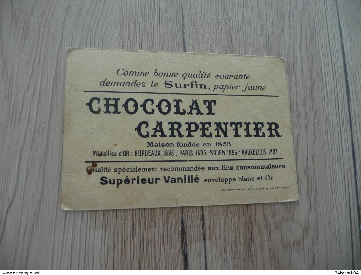 Chromo Pub Publicitaire Ancien Chocolat Carpentier Sport Golf - Schokolade