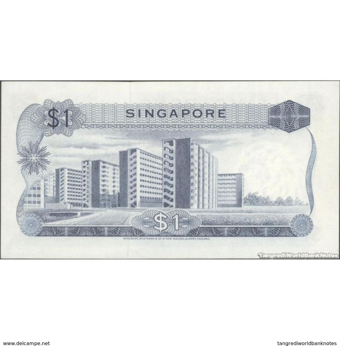 TWN - SINGAPORE 1a - 1 Dollar 1976 A/50 260711 UNC - Singapore