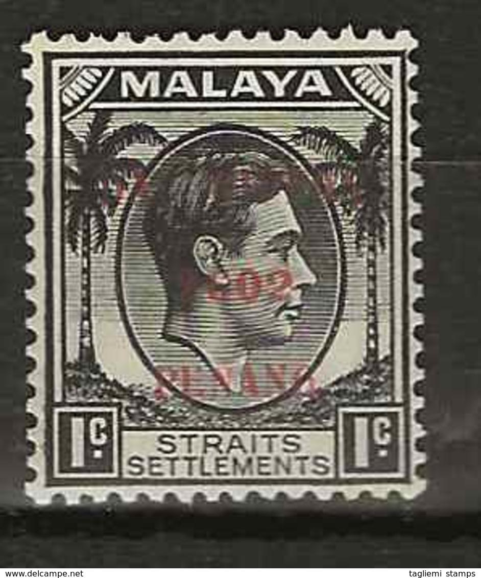 Malaysia - Japanese Occupation, 1942, J77, Mint Hinged - Gran Bretaña (antiguas Colonias Y Protectorados)