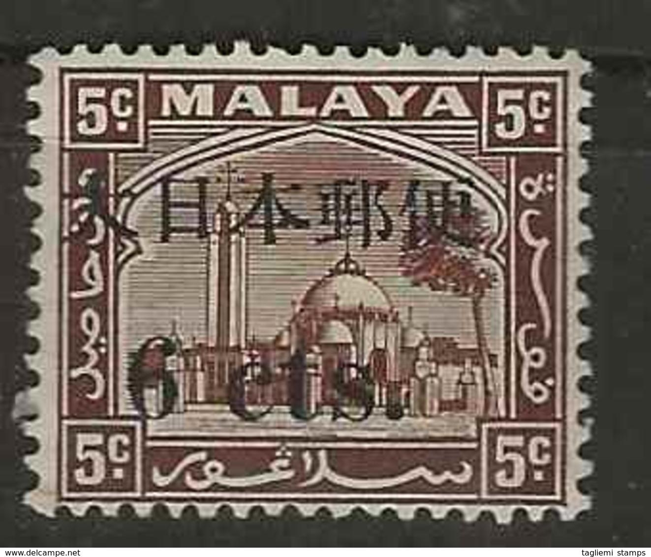 Malaysia - Japanese Occupation, 1944, J292, Mint Hinged - Ocupacion Japonesa