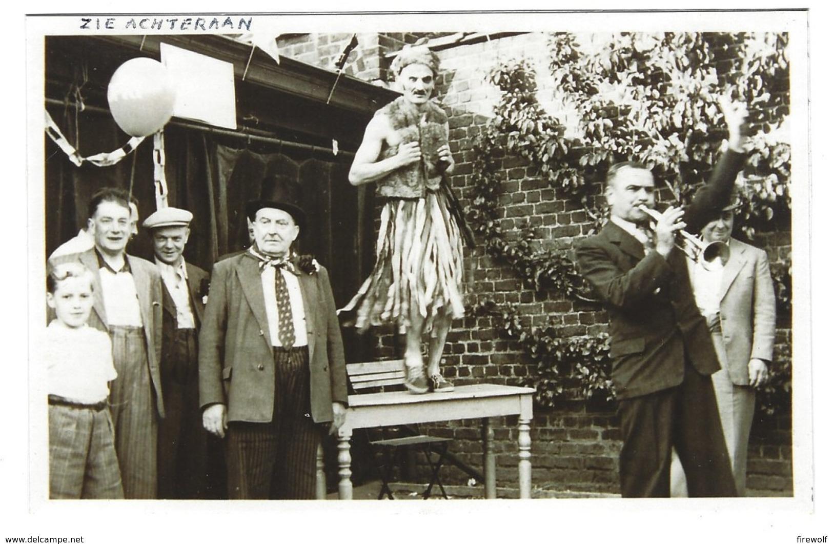 X06 - Foto 1950 - Asse - Vlaamse Kermis - Info Op Achterzijde - Asse