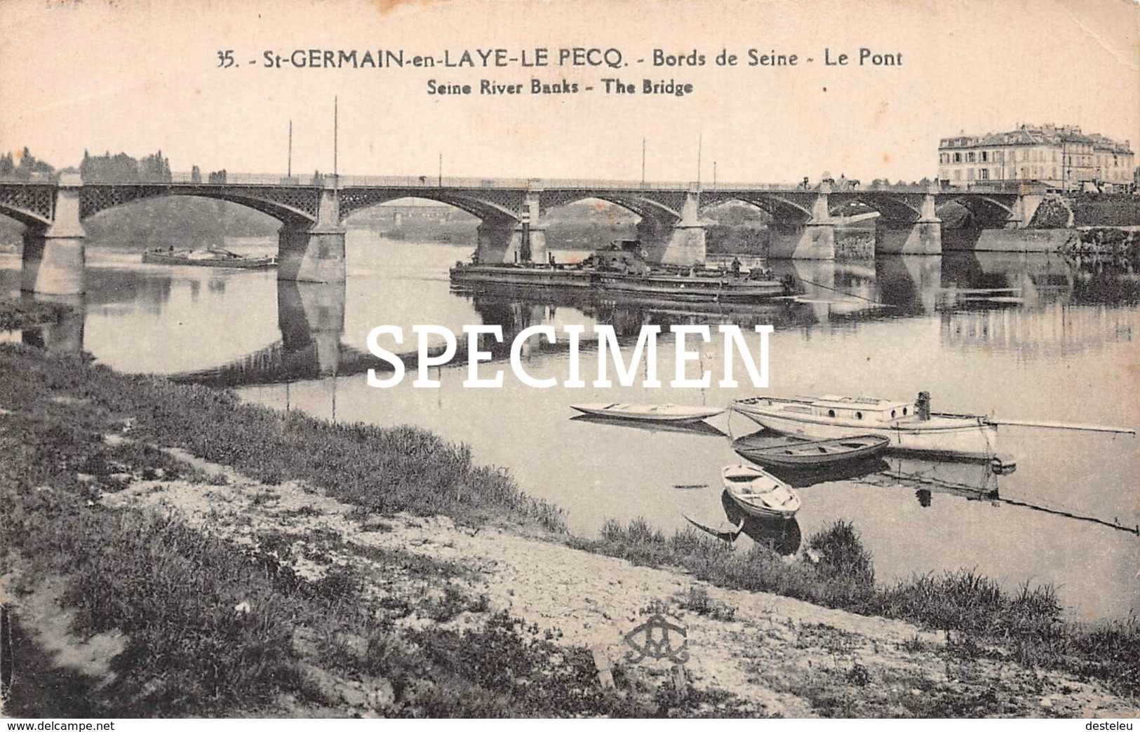 35 Le Pecq Saint-Germain-en-Laye - Bords De Seine - Le Pont - St. Germain En Laye