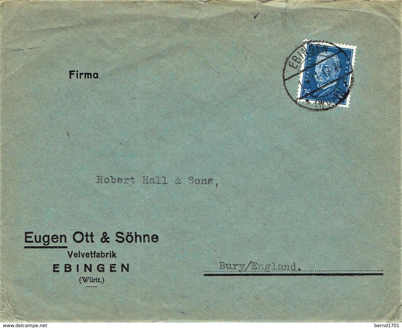 Deutsches Reich - Umschlag Echt Gelaufen / Cover Used (A892) - Deutschland