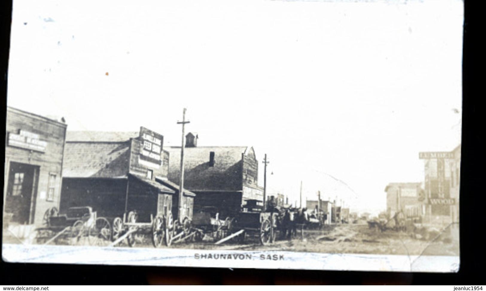 CANADA SHAUNAVON  EN 1922    PHOTO CARTE - Altri