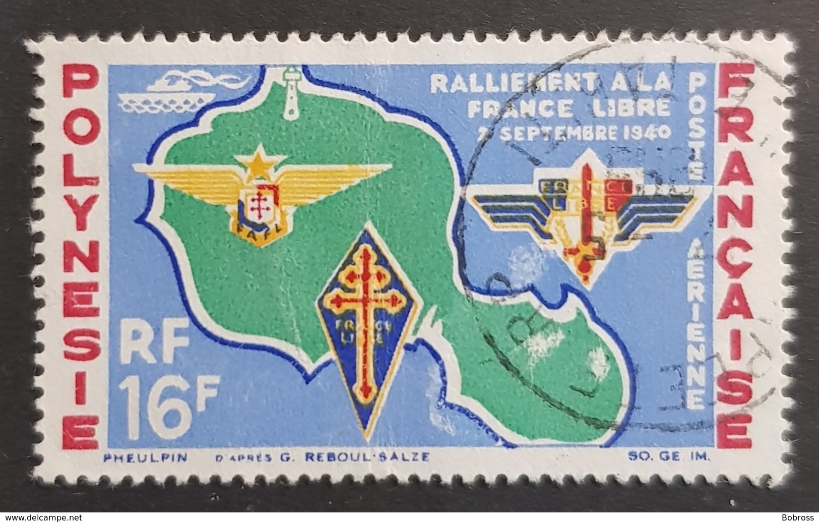 1964 Airmail, Polynesie, France, Republique Française, *,**, Or Used - Gebraucht