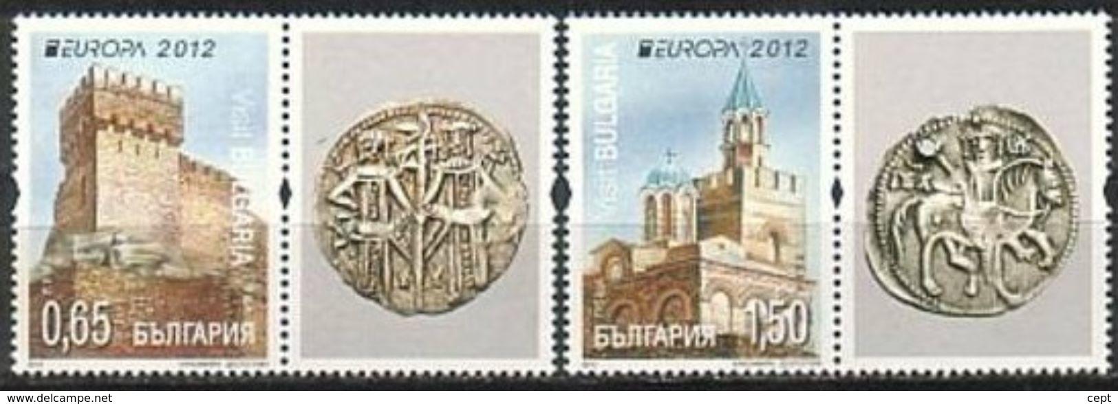 Bulgaria 2012  - Europa Cept - Set With Vignettes  MNH** - 2012