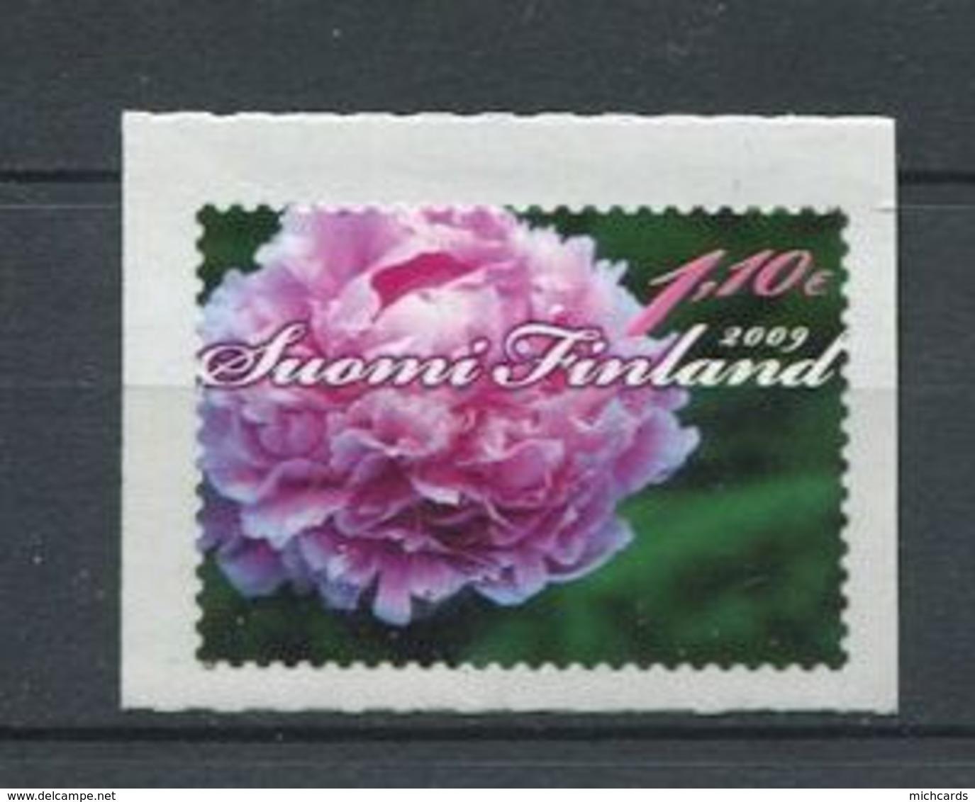 GER - FINLANDE 2009 - Yvert 1918 Adhesif - Fleur Pivoine De Chine - Neuf ** (MNH) Sans Trace De Charniere - Unused Stamps