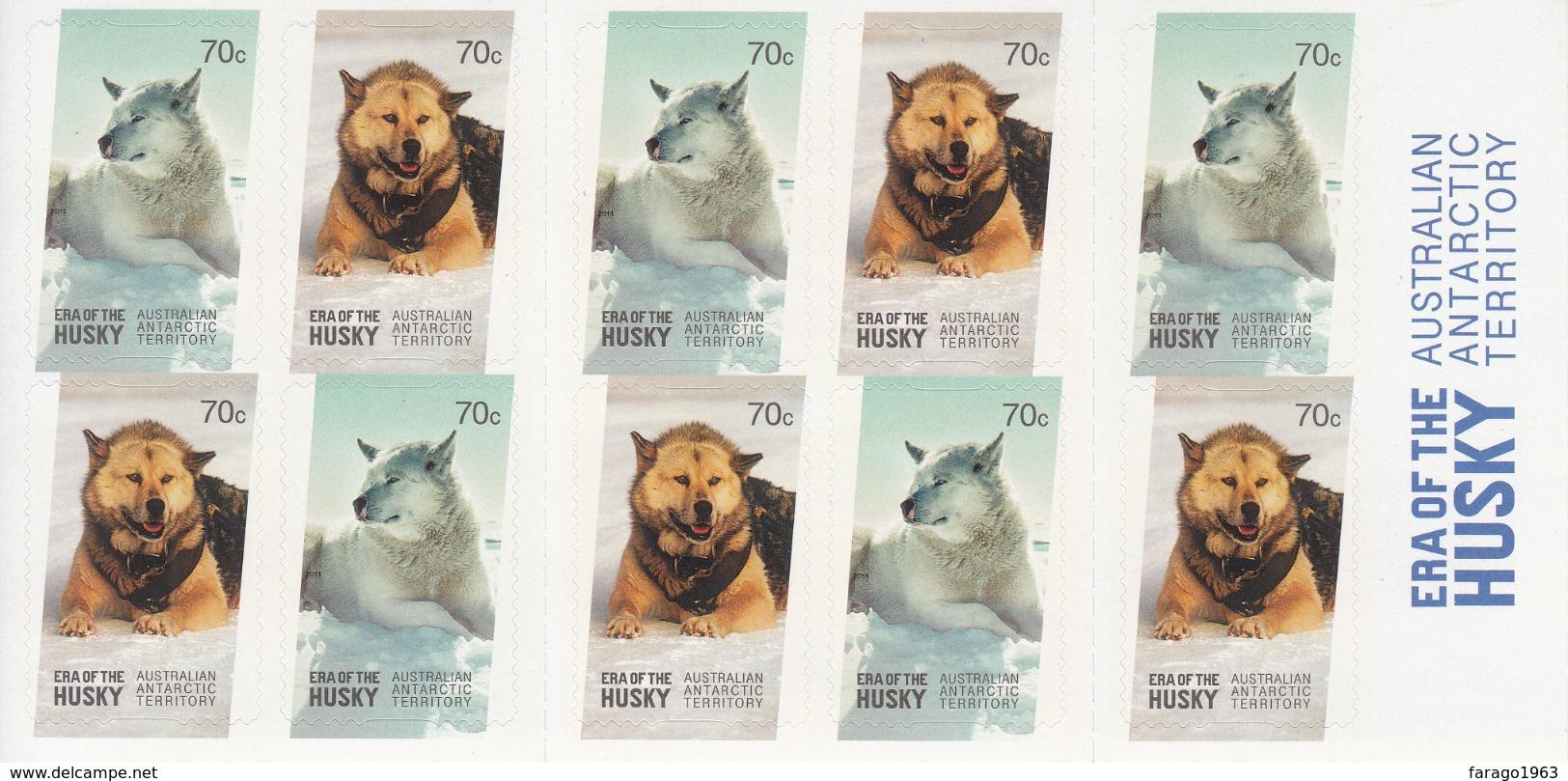 2014 Australian Antarctic Territory Husky Dogs  Complete Booklet MNH @80% Face Value - Australisches Antarktis-Territorium (AAT)