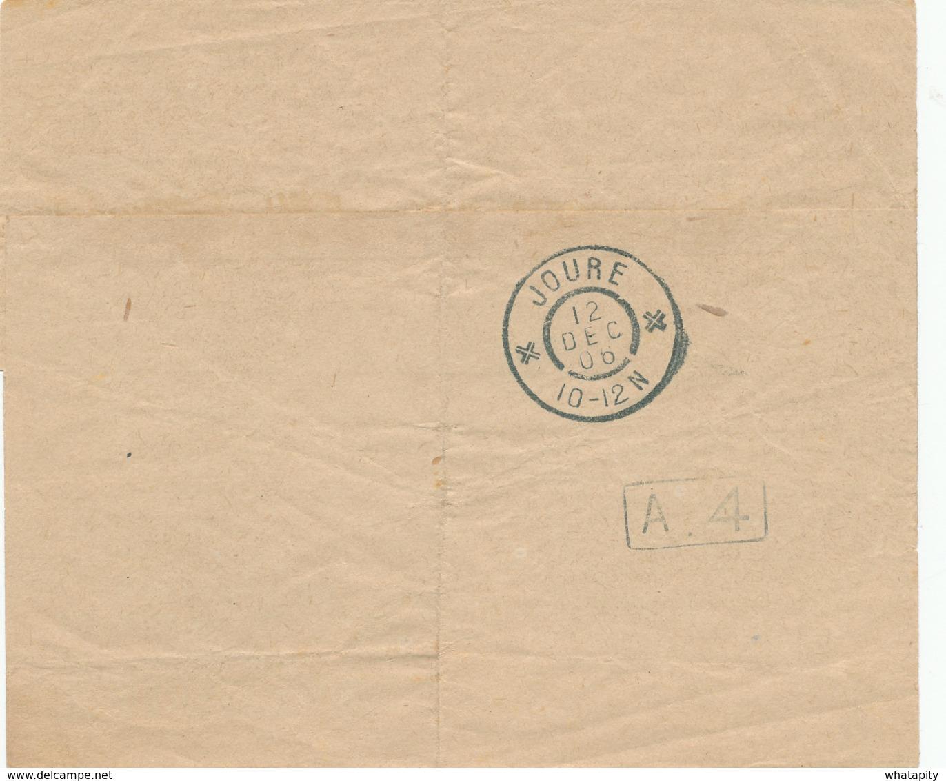 352/30 -- PREO 1 C Roulette BRUXELLES 06 En Paire Sur Bande De Journal  Vers JOURE Nederland - RARE - Roller Precancels 1900-09